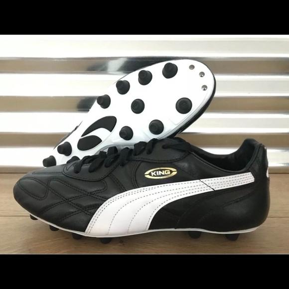 acheter en ligne 8eb41 332b1 PUMA King Top DI FG Leather Soccer Cleats